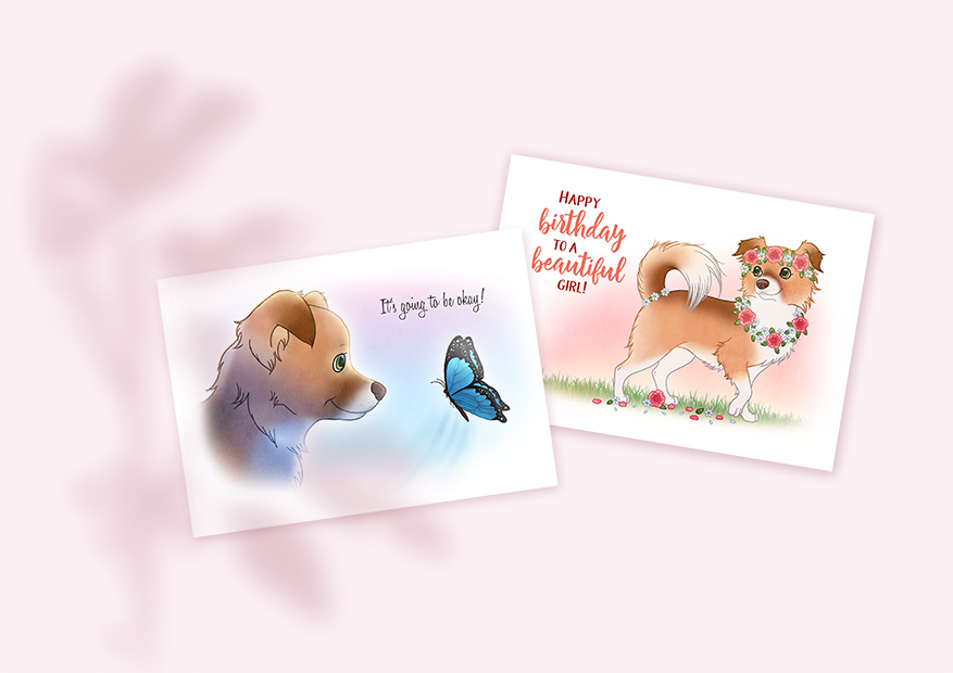 Greeting cards of Penny by Chiwowy